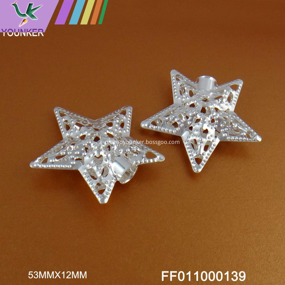 Silver Star Design Metal Ornament