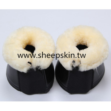 Artificial Leather Bell Boots with Sheepskin Lining