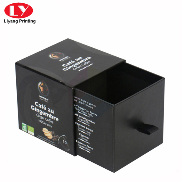 Black drawer gift box for perfume bottle
