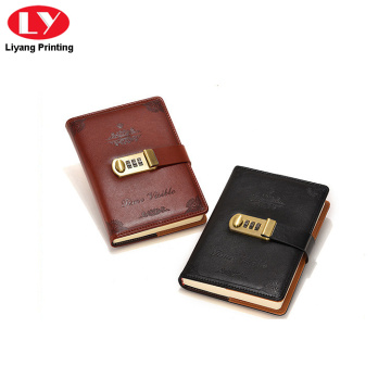 2018 fashion PU softcover design notebook with Lock