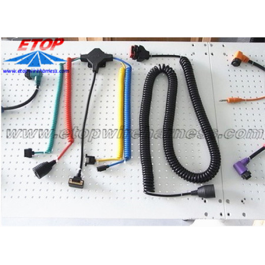 Coiled Cable Harness assembly