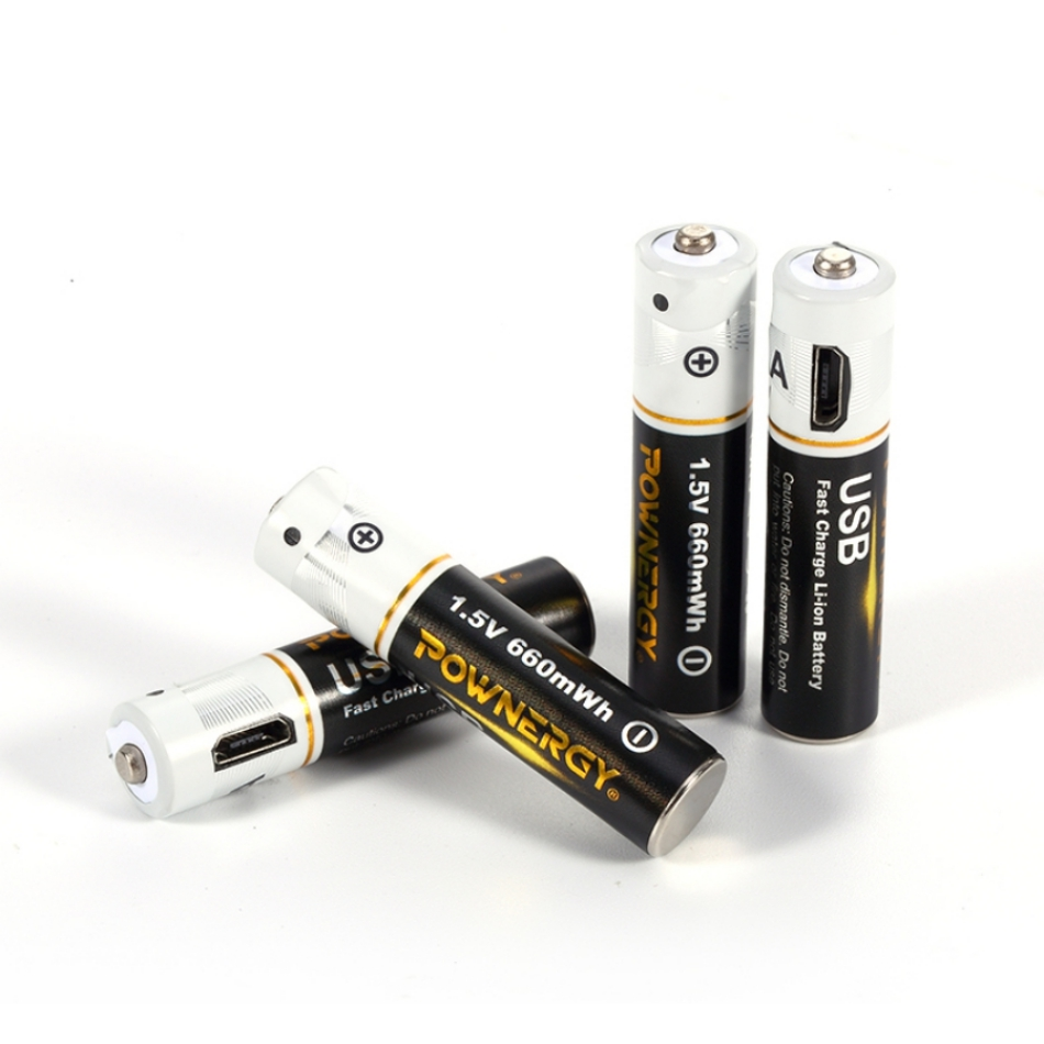Renewable AAA Battery with USB Charger