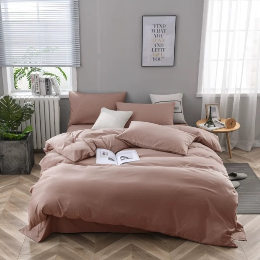 Softness Solid Color Bed Sheet Flat Sheet