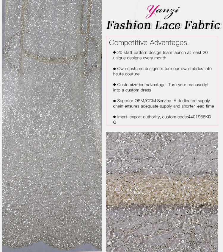 Bead Lace Fabric