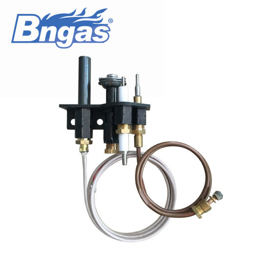 Replacement propane (LP) pilot assembly for gas logs