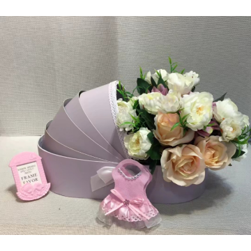 Cradle shape flower box gift packaging