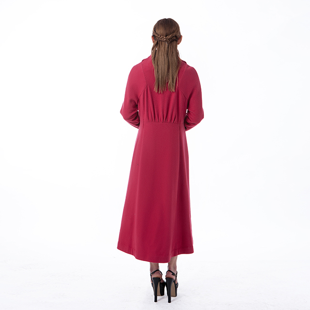 Fashion cashmere overcoat red