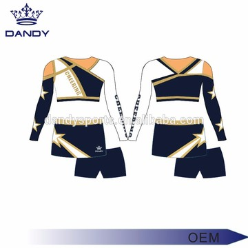custom eye catching usa cheerleader costume