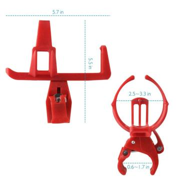 Aluminum Alloy Bicycle Water Bottle Cage Plastic Red