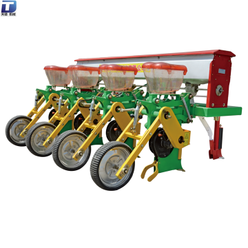 Tractor corn planter with fertilizer