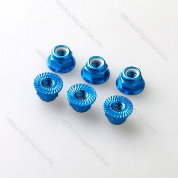 In Stock Anodized Serrated Flange Aluminum Nuts