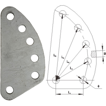 Overhead Line Galvanized Steel DB Adjusting Plate