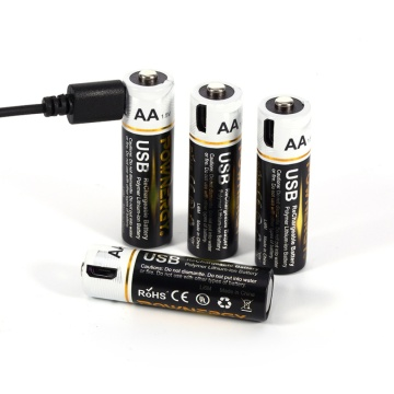 1.5v AA Lithium Battery Pack With USB Charger
