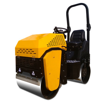 New type single cylinder double drum road roller