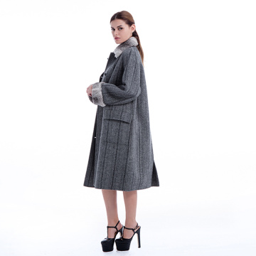 New model cashmere overcoat with plush