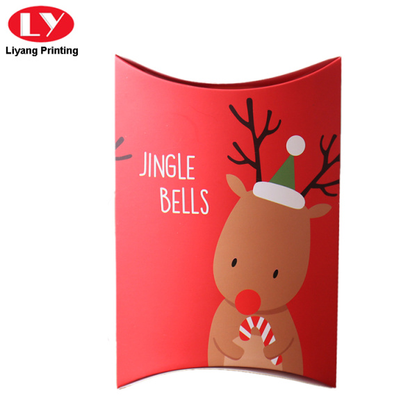 Chirstmas gift pillow box packaging paper box