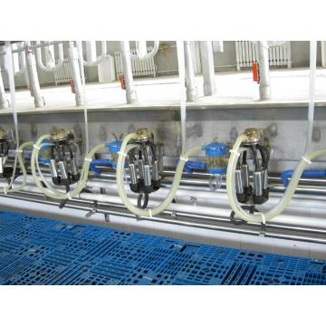 High tech milking parlor