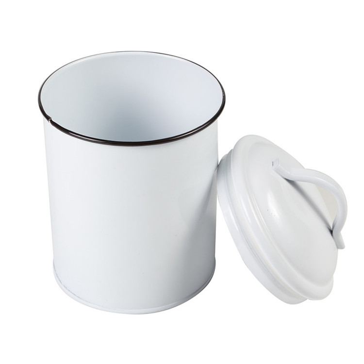Cream White Coffee/sugar/tea Storage With Handle