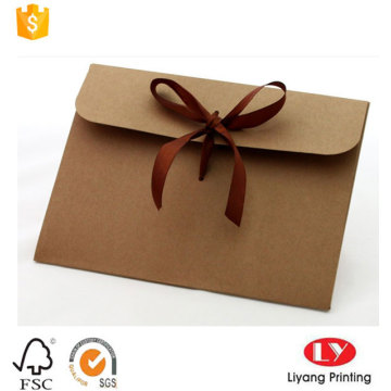 Bulk Custom Kraft Paper Envelope with Ribbon