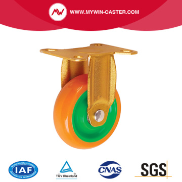 Fix Top Plate PU Wheel Industrial Caster
