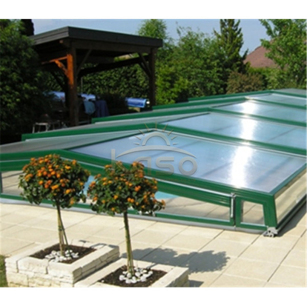 Stainless Steel Drain Enclosure Sliding Swimming Pool Cover