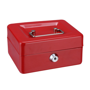 Metal Money box with Cover and Key Lock