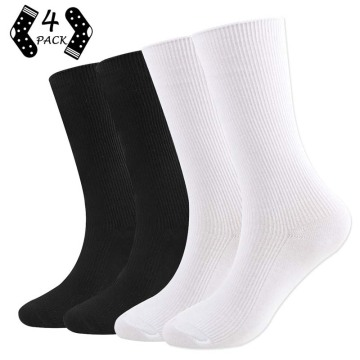 Womens Novetly Crew Cotton Socks 4P