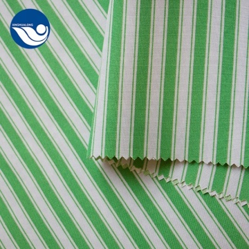 Green Stripe Woven 100% Polyester Mini Matt Fabric
