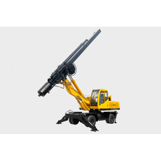 Small wheel pile driver for sale