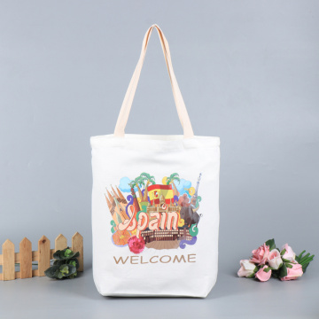 Custom Ecological Logo Printed Canvas Cotton Tote Bag