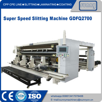 CPP CPE Plastic film slitting and rewind machine