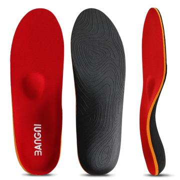 Red EVA arch support orthotic insoles shoes pad