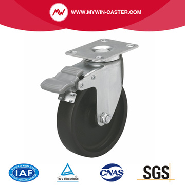 Light 4 Inch 70Kg Plate Brake PO Caster