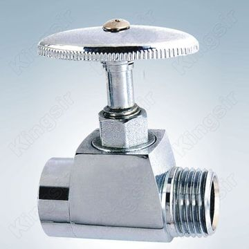 Brass Stop Valve Polished Chromed