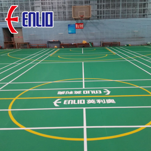 PVC Floor for Badminton Painted Badminton Cour Floor