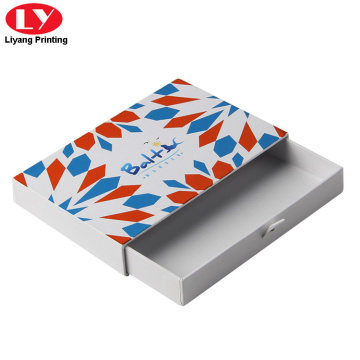 White sliding paper drawer box packaging