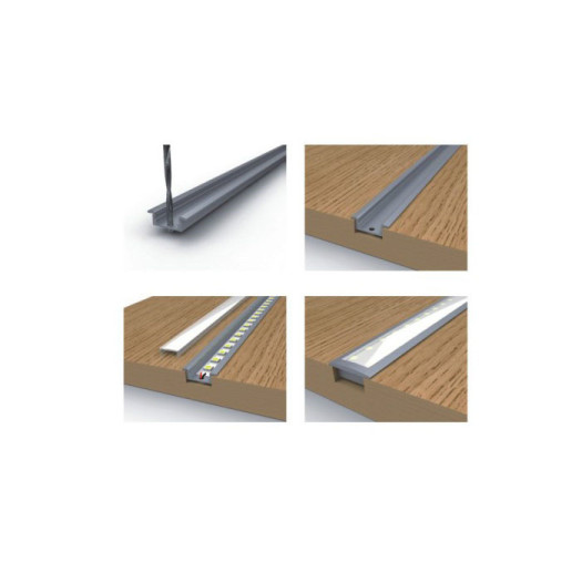 Recessed Warm White Linear Light