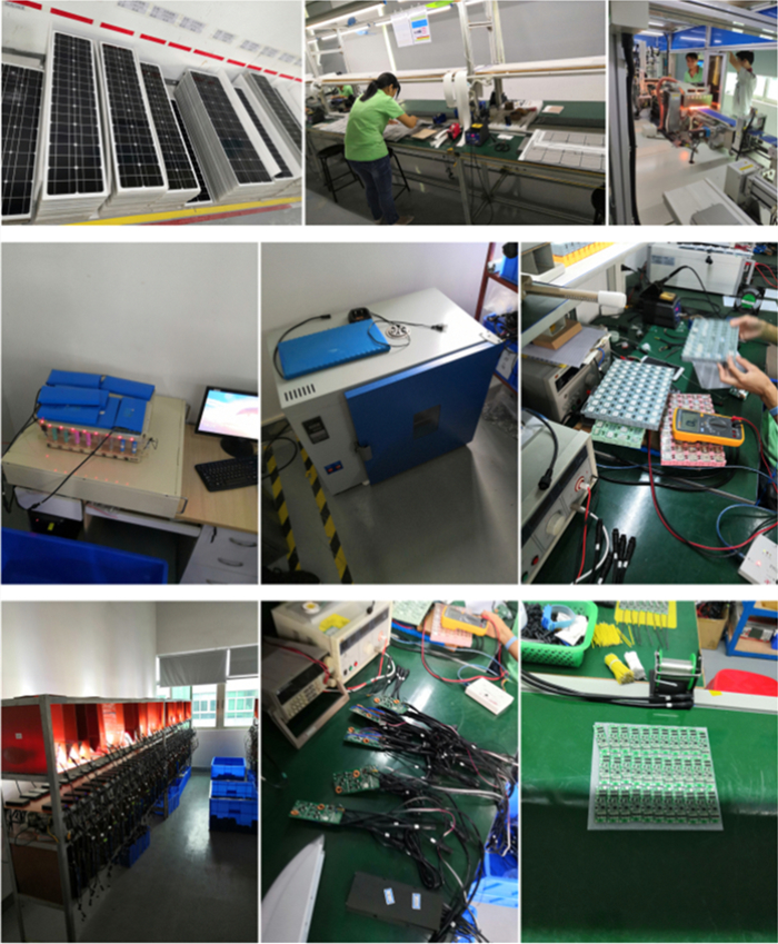production of solar street light