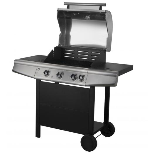 Outdoor Gas Barbecue Grill with Side Burner