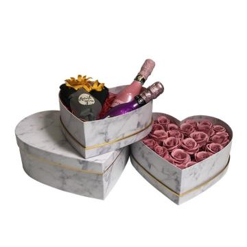 Marble heart shape cardboard gift boxes for sale
