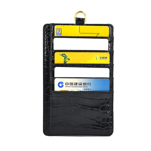 Credit Card Holder With Card Slots Crocodile Texture