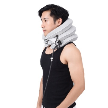 Inflatable adjustable comfortable cervical vertebra tractor