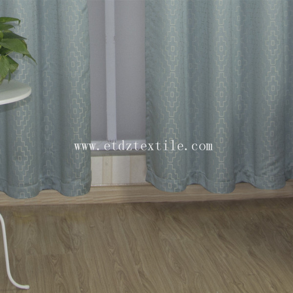 Embroidery grommet fabric curtain