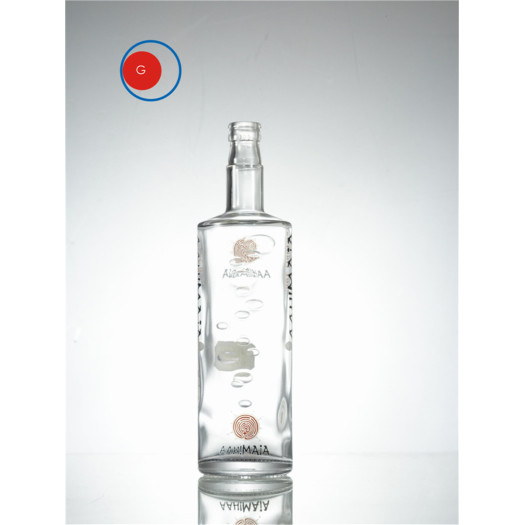 Special Shape Glass Bottle with Intaglio Printing