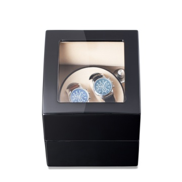 Black Finish Square Shape Watch Winder