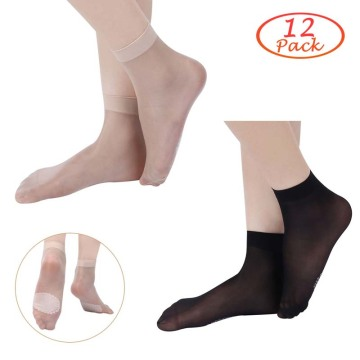 Kordear Women Nylon Anti-Slip Socks 12 Pairs