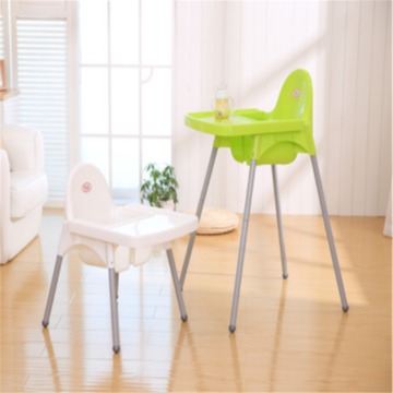 Baby adjustable plastic dining chair