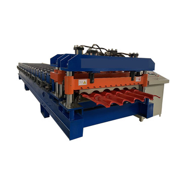 aluminum roof sheet glazed tile roll forming machine