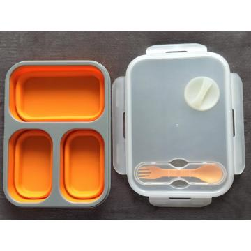 Silicone  collapsible lunch box food containers