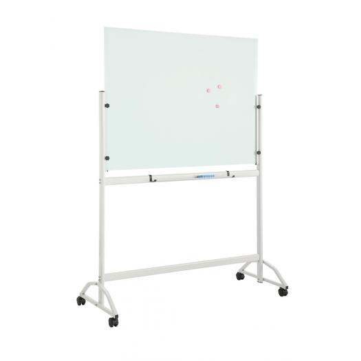 Tempered Frameless Magnetic Mobile Glass board with stand